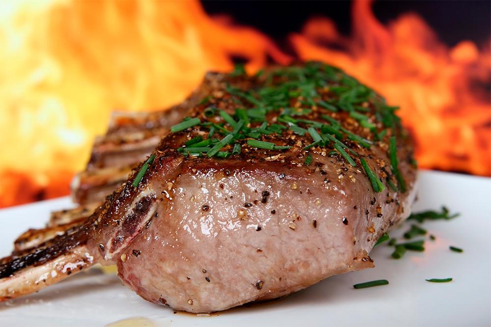 carne de cordero para asar
